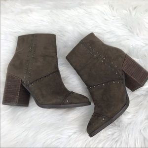 Report Taupe Studded Jael Ankle Boots